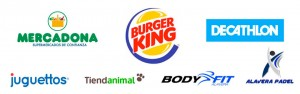 Mercadona, Burguer King, Decathlon, Tiendanimal, Body Fit y Juguettos