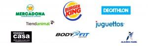Todas las empresas que se encuentran en nuestro centro comercial alavera