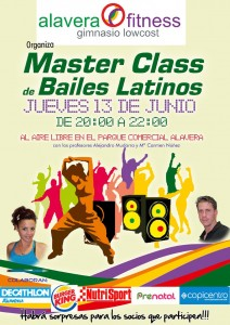 Master Class bailes latinos en el Parque Comercial Alavera