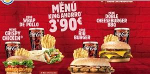 menu burguer king verano