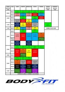 horario septiembre en alavera bodyfit