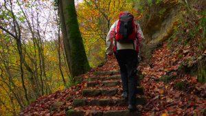 deportes de otoño senderismo