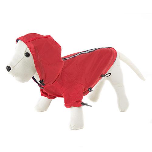 ropa para perros chubasquero rojo