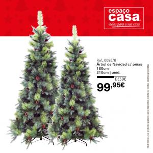 decoración de Navidad espacocasa arbol piñas