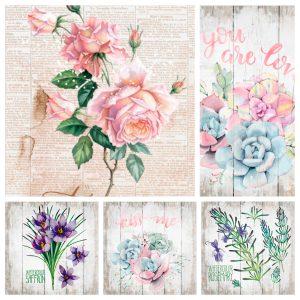 Los estilos de decoración y las flores