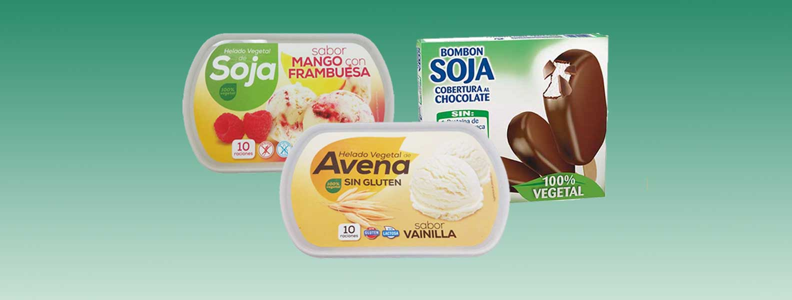 helados productos veganos y vegetarianos en Mercadona