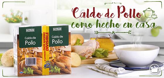 Caldo de pollo del supermercado de Mercadona