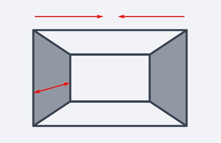 reducir el ancho en habitaciones