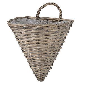 cesta de mimbre decoración de hogar